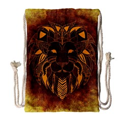 Lion Wild Animal Abstract Drawstring Bag (large) by Celenk