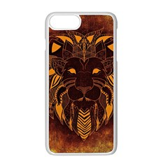 Lion Wild Animal Abstract Apple Iphone 8 Plus Seamless Case (white) by Celenk