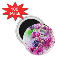 Blackberry Fruit Art Abstract 1 75  Magnets (100 Pack)  by Celenk