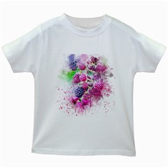 Blackberry Fruit Art Abstract Kids White T Shirts by Celenk