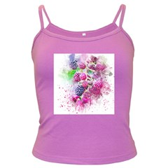 Blackberry Fruit Art Abstract Dark Spaghetti Tank by Celenk