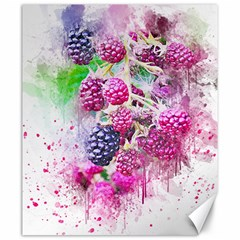 Blackberry Fruit Art Abstract Canvas 20  X 24   by Celenk