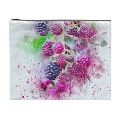Blackberry Fruit Art Abstract Cosmetic Bag (xl) by Celenk