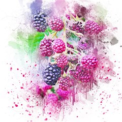 Blackberry Fruit Art Abstract Magic Photo Cubes by Celenk