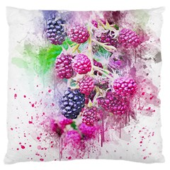 Blackberry Fruit Art Abstract Large Cushion Case (one Side) by Celenk