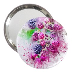 Blackberry Fruit Art Abstract 3  Handbag Mirrors by Celenk