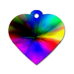 Creativity Abstract Alive Dog Tag Heart (two Sides) by Celenk