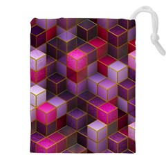 Cube Surface Texture Background Drawstring Pouches (xxl) by Celenk