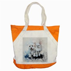 Cat Dog Cute Art Abstract Accent Tote Bag by Celenk