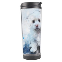 Cat Dog Cute Art Abstract Travel Tumbler