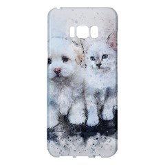 Cat Dog Cute Art Abstract Samsung Galaxy S8 Plus Hardshell Case