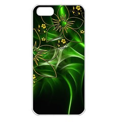 Flora Entwine Fractals Flowers Apple Iphone 5 Seamless Case (white) by Celenk