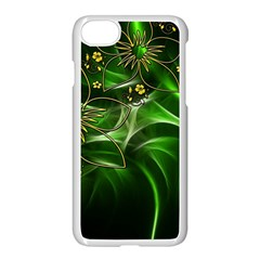 Flora Entwine Fractals Flowers Apple Iphone 8 Seamless Case (white) by Celenk
