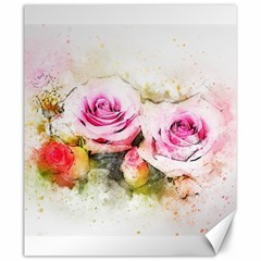 Flower Roses Art Abstract Canvas 20  X 24