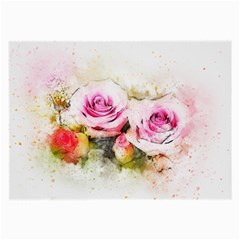 Flower Roses Art Abstract Large Glasses Cloth (2 Side)