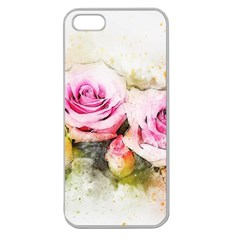 Flower Roses Art Abstract Apple Seamless Iphone 5 Case (clear)