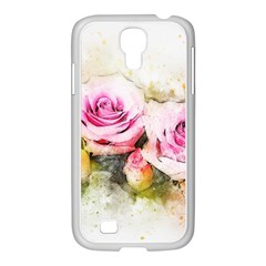 Flower Roses Art Abstract Samsung Galaxy S4 I9500/ I9505 Case (white) by Celenk