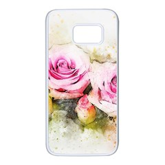 Flower Roses Art Abstract Samsung Galaxy S7 White Seamless Case by Celenk