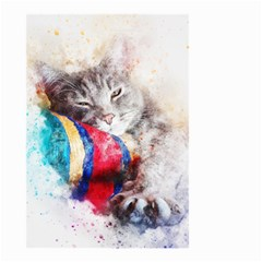 Cat Kitty Animal Art Abstract Small Garden Flag (two Sides) by Celenk