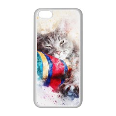 Cat Kitty Animal Art Abstract Apple Iphone 5c Seamless Case (white) by Celenk