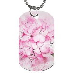 Flower Pink Art Abstract Nature Dog Tag (two Sides)