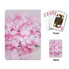 Flower Pink Art Abstract Nature Playing Card by Celenk