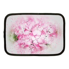 Flower Pink Art Abstract Nature Netbook Case (medium)