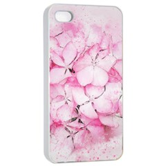 Flower Pink Art Abstract Nature Apple Iphone 4/4s Seamless Case (white)