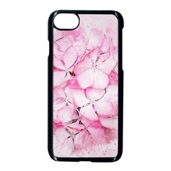 Flower Pink Art Abstract Nature Apple Iphone 8 Seamless Case (black)