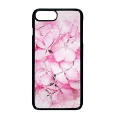 Flower Pink Art Abstract Nature Apple Iphone 8 Plus Seamless Case (black)