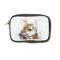 Cat Animal Art Abstract Watercolor Coin Purse