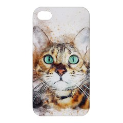 Cat Animal Art Abstract Watercolor Apple Iphone 4/4s Premium Hardshell Case by Celenk