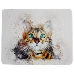 Cat Animal Art Abstract Watercolor Jigsaw Puzzle Photo Stand (rectangular) by Celenk