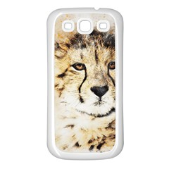 Leopard Animal Art Abstract Samsung Galaxy S3 Back Case (white)
