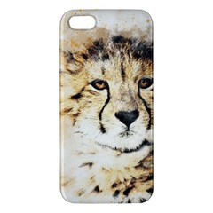 Leopard Animal Art Abstract Iphone 5s/ Se Premium Hardshell Case by Celenk