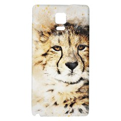 Leopard Animal Art Abstract Galaxy Note 4 Back Case by Celenk