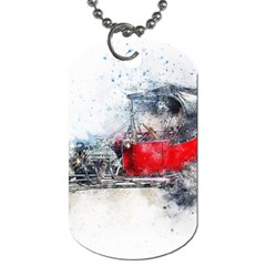 Car Old Car Art Abstract Dog Tag (one Side) by Celenk
