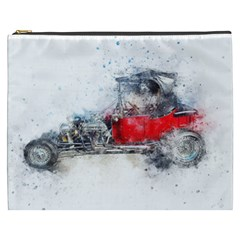 Car Old Car Art Abstract Cosmetic Bag (xxxl)  by Celenk
