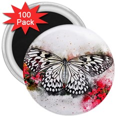 Butterfly Animal Insect Art 3  Magnets (100 Pack)