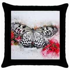 Butterfly Animal Insect Art Throw Pillow Case (black) by Celenk