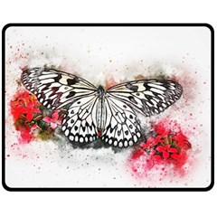 Butterfly Animal Insect Art Double Sided Fleece Blanket (medium)  by Celenk