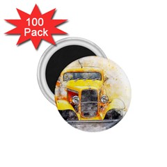Car Old Art Abstract 1 75  Magnets (100 Pack)  by Celenk