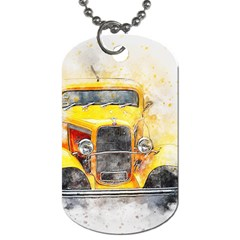 Car Old Art Abstract Dog Tag (one Side) by Celenk