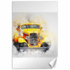 Car Old Art Abstract Canvas 24  X 36  by Celenk