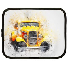 Car Old Art Abstract Netbook Case (large)