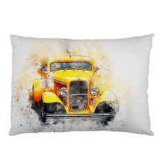 Car Old Art Abstract Pillow Case (two Sides)