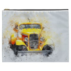 Car Old Art Abstract Cosmetic Bag (xxxl)  by Celenk