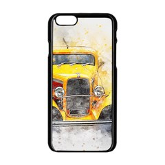 Car Old Art Abstract Apple Iphone 6/6s Black Enamel Case by Celenk
