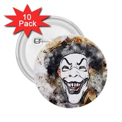 Mask Party Art Abstract Watercolor 2 25  Buttons (10 Pack)