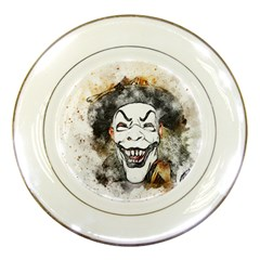 Mask Party Art Abstract Watercolor Porcelain Plates by Celenk